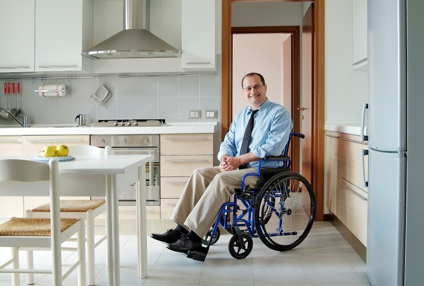 wheelchair accessible home person in wheelchair