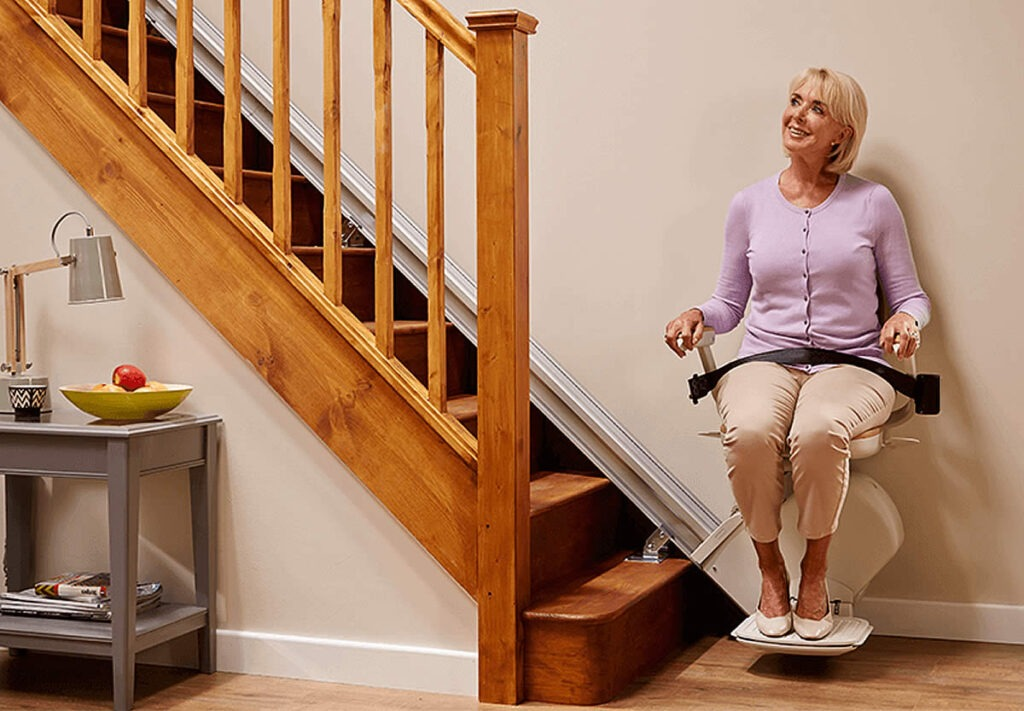 stairlift seated